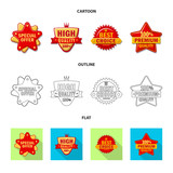 Isolated object of emblem and badge icon. Set of emblem and sticker stock vector illustration. - 236743890