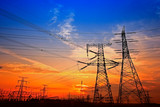Electric tower, silhouette at sunset - 236749642