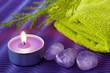 Quadro Wellness  Edelsteine uns Kerze