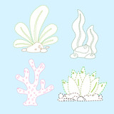 sea plants page coloring vector design