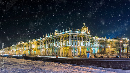 Leinwandbild Motiv  Hermitage in St. Petersburg