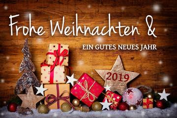 Frohe Weihnachten -  Grußkarte, Weihnachtskarte © Floydine