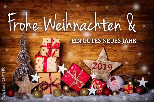 Leinwandbild Motiv Frohe Weihnachten -  Grußkarte, Weihnachtskarte