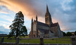 Quadro St Mary's cathedral in killarney at sunset evening light