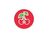 cherry fruit icon vector template