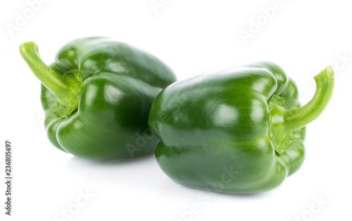 Green pepper on white background - 236805697