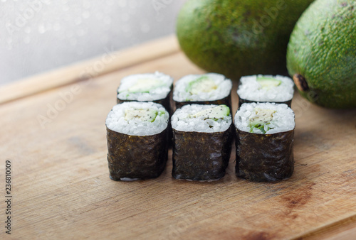 rolls with avocado