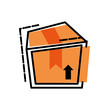 box carton isolated icon