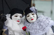 Quadro Two costumes at Carnival of Venice