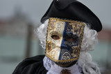 Man wearing costume at Carnival of Venice