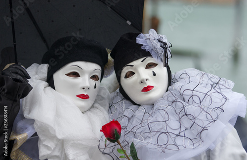 Two costumes at Carnival of Venice