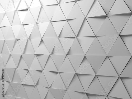 Abstract white triangles background pattern