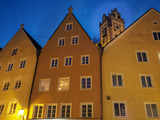 Fussen town Cityscape at night time in Bavaria, Germany - 236827051