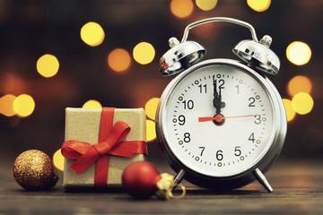 New Year countdown. Midnight clock