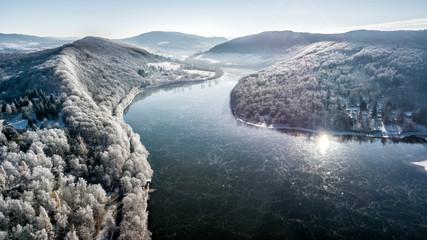 DRON Bieszczasy zima śnieg  © Piotr