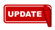 red vector banner update