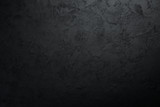 Black stone background. Black surface. Top view. Free space for your text. - 236846611