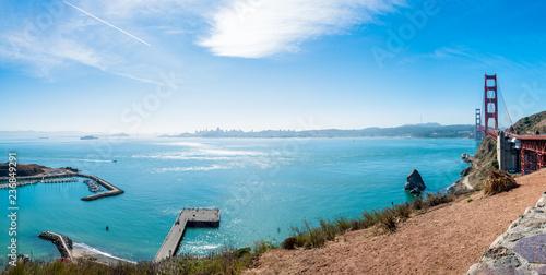 View from Golden Gate Bridge Vista Point to San francisco