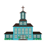 church isolated icon
