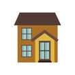 house with front view isolated icon