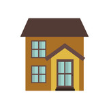 house with front view isolated icon - 236851483