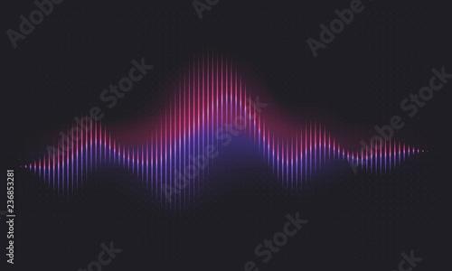Abstract sound wave  Voice digital waveform, volume voice technology