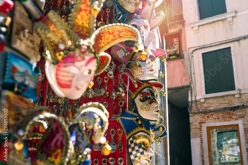 Venetian masks are sold on the street