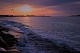 coucher de soleil plage mer