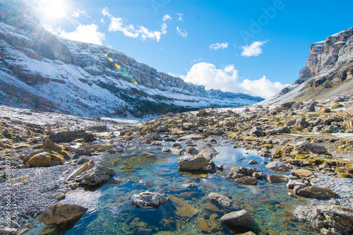 beautiful stream at monte perdido national park, Spain - 236881079