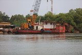 River barge at untidy construction site, Nov. 24, 2018 (4907) - 236882416