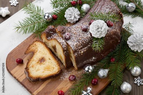 Christmas Chocolate Yule Log Cake