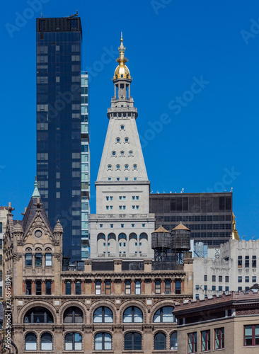 Foto Murales towers rooftop aUnion Square Manhattan Landmarks in New York City USA
