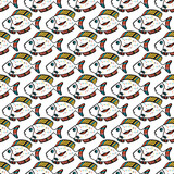 fish vector illustration. Tropical fish, sea fish, aquarium fish. Seamless pattern