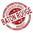 Baton Rouge stamp with white background