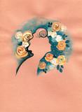 beautiful woman. fashion illustration. watercolor painting - 236902282