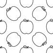 Apple Icon, Fruit Icon Seamless Pattern - 236907231
