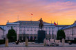 Warsaw, Presidential Palace at sunrise