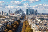 Aerial view of Paris downtown cityline, Paris, France.