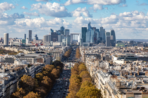 fototapeta na ścianę Aerial view of Paris downtown cityline, Paris, France.