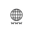 World Internet outline icon. linear style sign for mobile concept and web design. Global browser simple line vector icon. Symbol, logo illustration. Pixel perfect vector graphics