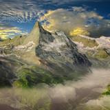 Matterhorn Schweiz Alpen 3D Render