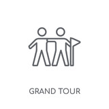 grand tour linear icon. Modern outline grand tour logo concept on white background from Architecture and Travel collection