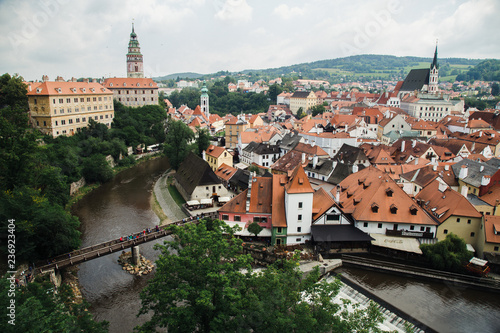 City panorama in the Chech Krumlov