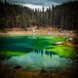 Quadro carezza lake in italy