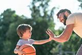 Happy boy and dad close-up - 236942639