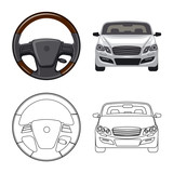 Isolated object of auto and part sign. Set of auto and car vector icon for stock. - 236944259