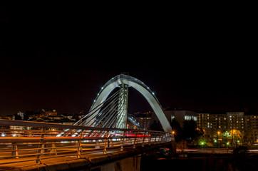 modern bridge over river in Orense, Galicia