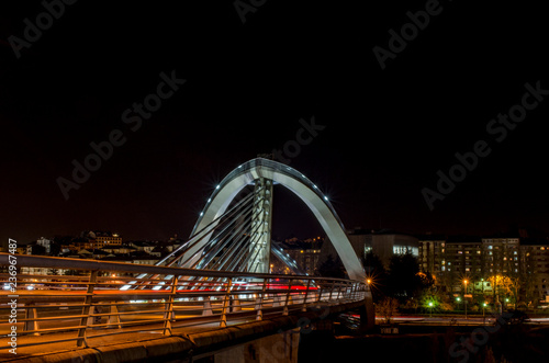 modern bridge over river in Orense, Galicia - 236967487