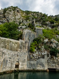 ruins of old castle. view of kotor montenegro