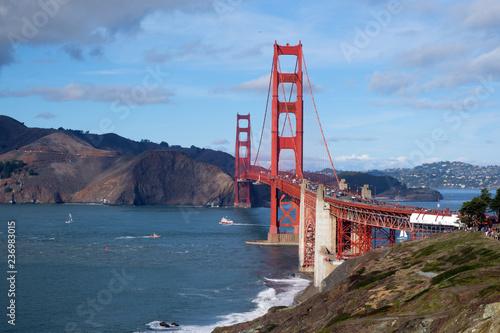 Famous Golden Gate Bridge landmark at San Francisco USA - 236983015